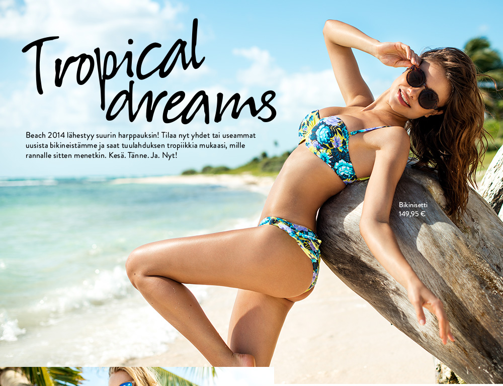 tropical dreams bikini ja rantamuotia kes ksi 2014 nelly com. Black Bedroom Furniture Sets. Home Design Ideas