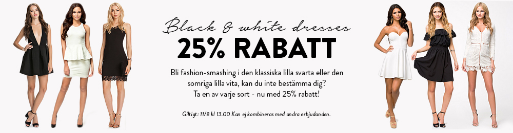 Black & White 25% OFF