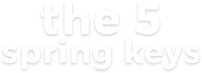 THE 5 SPRING KEYS